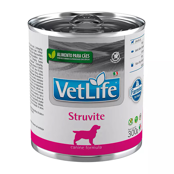 Ração Úmida Vet Life Lata Struvite para Cães 300g
