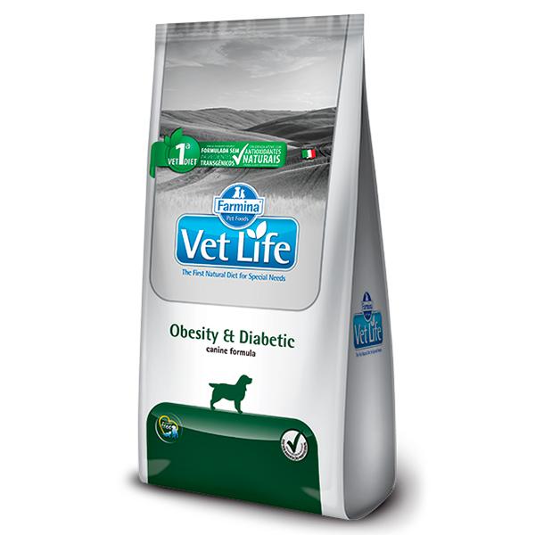 Ração Vet Life Obesity & Diabetic para Cães Adultos