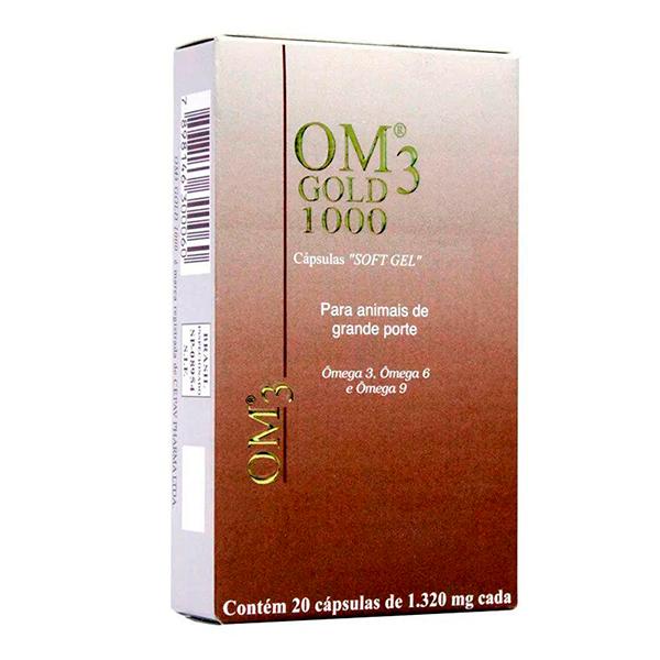 Suplemento Cepav OM3 Gold 1000 Soft Gel 1,320mg -  C/ 20 Cápsulas