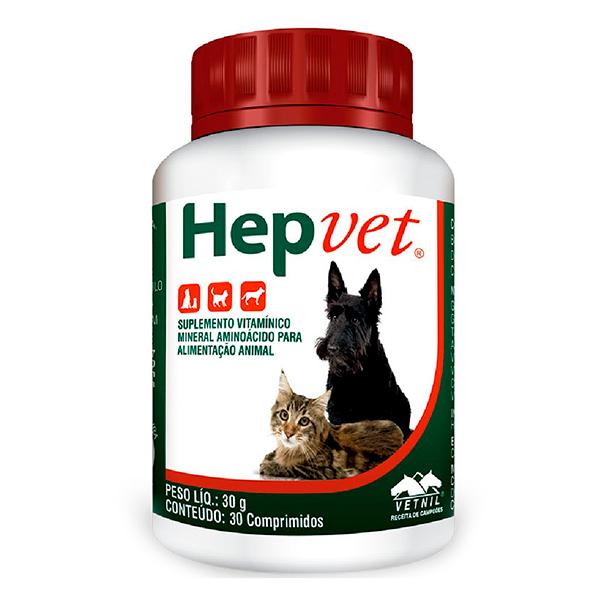 Suplemento Vetnil Hepvet  - C/ 30 Comprimidos