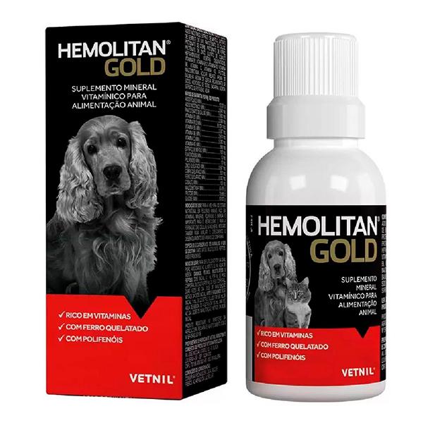 Suplemento Vitamínico Vetnil Hemolitan Gold em Gotas
