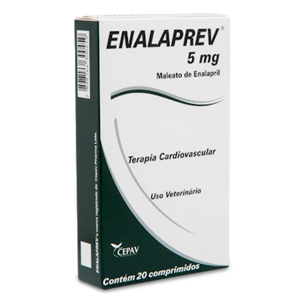 Vasodilatador Castel Pharma Enalaprev para Cães 5mg  - C/ 20 Comprimidos