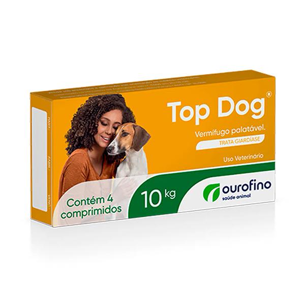 Vermífugo Top Dog Ourofino para Cães - 10Kg