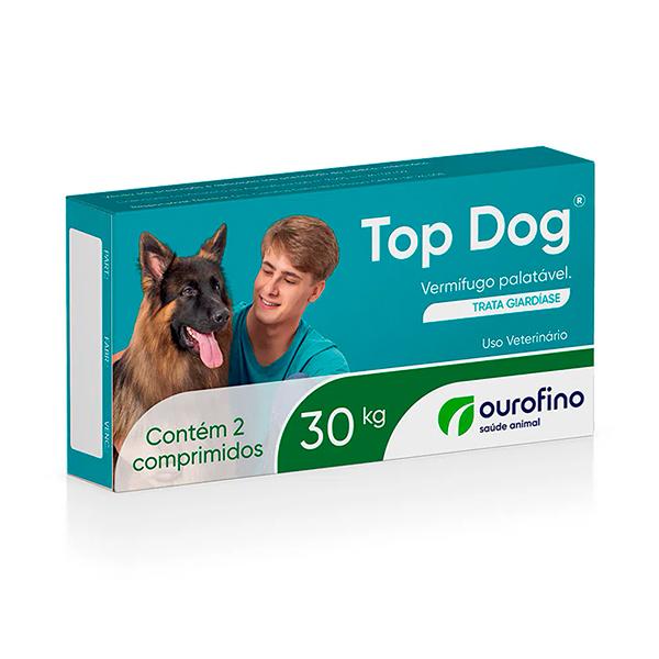 Vermífugo Top Dog Ourofino para Cães - 30Kg