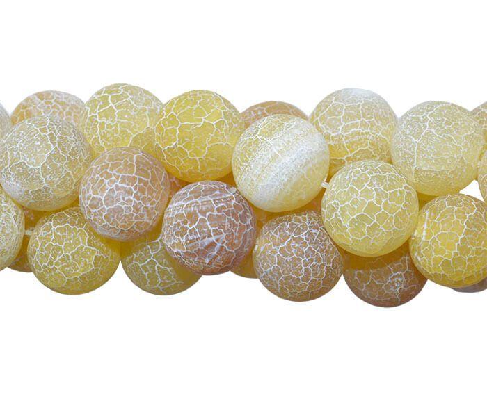 Ágata Amarela Craquelada Esferas de 12mm - FESF_408/12