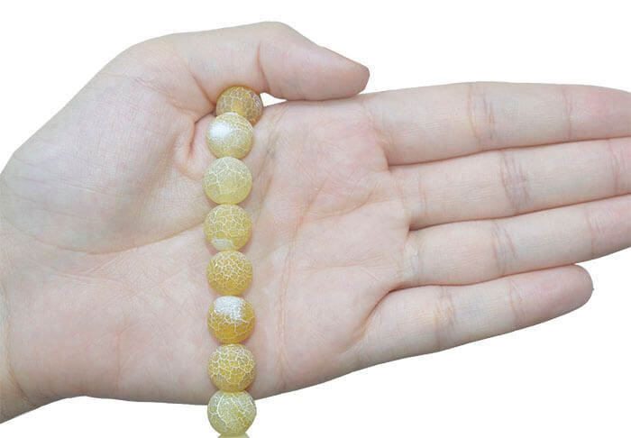 Ágata Amarela Craquelada Esferas de 12mm - FAG_408/12  - ArtStones