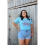 T-shirt California 1850 Azul Neon