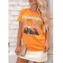 T-shirt Flamingo Lounge Laranja Mangold