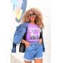 T-shirt Flamingo Lounge Roxo Violeta