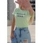 T-shirt Independent Woman Verde Menta