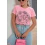 T-shirt Let It Wild Rosa Chiclet