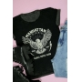 T-shirt Manhattan Eagle Preto Stone Invertido
