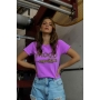 T-Shirt Mood Roxo Neon