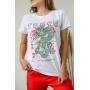 T-shirt Tokyo Dragon Branco