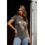 T-shirt Wild Side Panther Preto Marmorizado