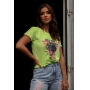 T-shirt Wild Side Panther Verde Lima