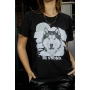 T-Shirt Wolf Be Strong Preto