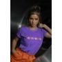 T-Shirt Wonder Woman Roxo Violeta