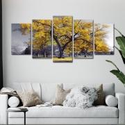 A Árvore da Vida Amarela - Mosaico 5 peças