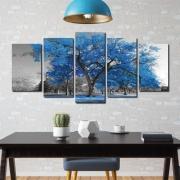 A Árvore da Vida Azul - Mosaico 5 peças
