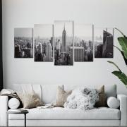 Nova York City - Preto e Branco - Mosaico 5 peças