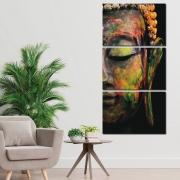 O Rosto de Buda - Mosaico Vertical