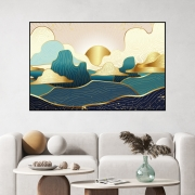 Quadro Decorativo Por do Sol Abstrato - Arte Oriental
