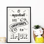 Quadro para Cozinha, O Ingrediente mais importante é o amor