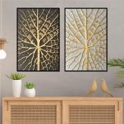 Quadros Textura de Folhas, Abstrato