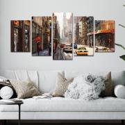 Ruas de Nova York - Mosaico 5 peças