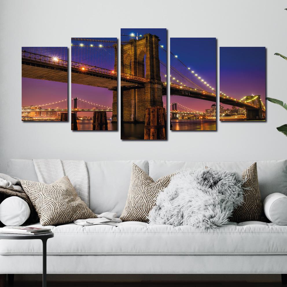 A Ponte do Brooklyn - Mosaico 5 peças