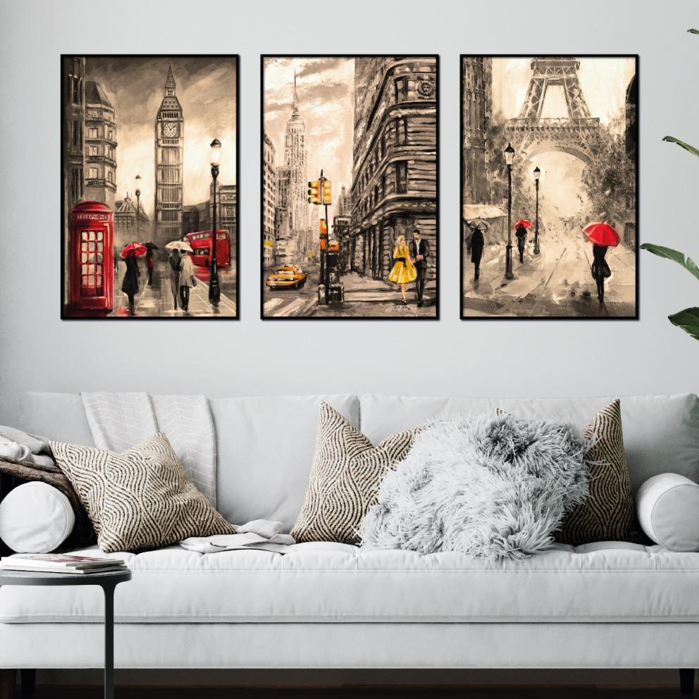Composição Cidades - Londres, Nova York, Paris