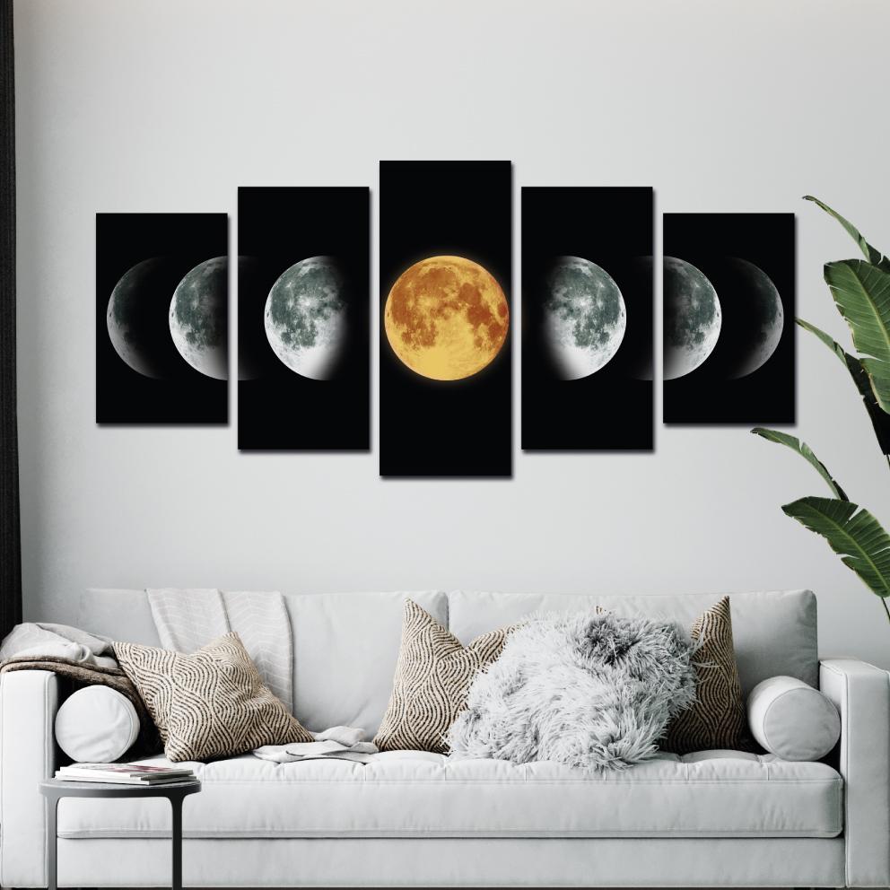 Fases da Lua - Mosaico 5 peças