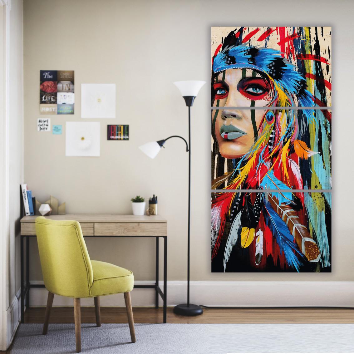 Índia Apache - Nativo Americano - Mosaico Vertical