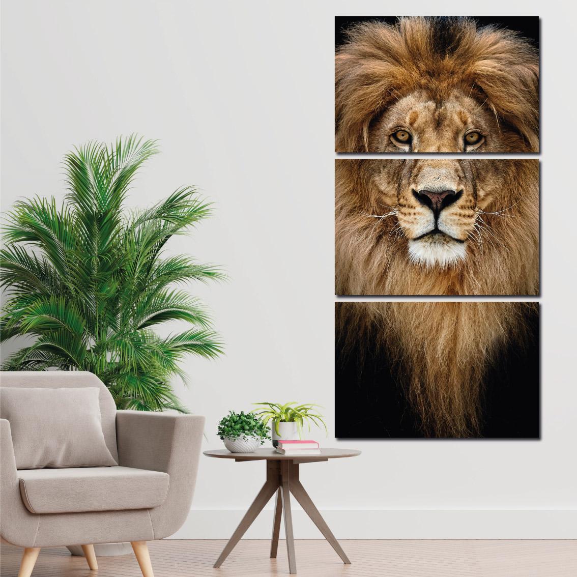 Leão Alpha - Mosaico Vertical