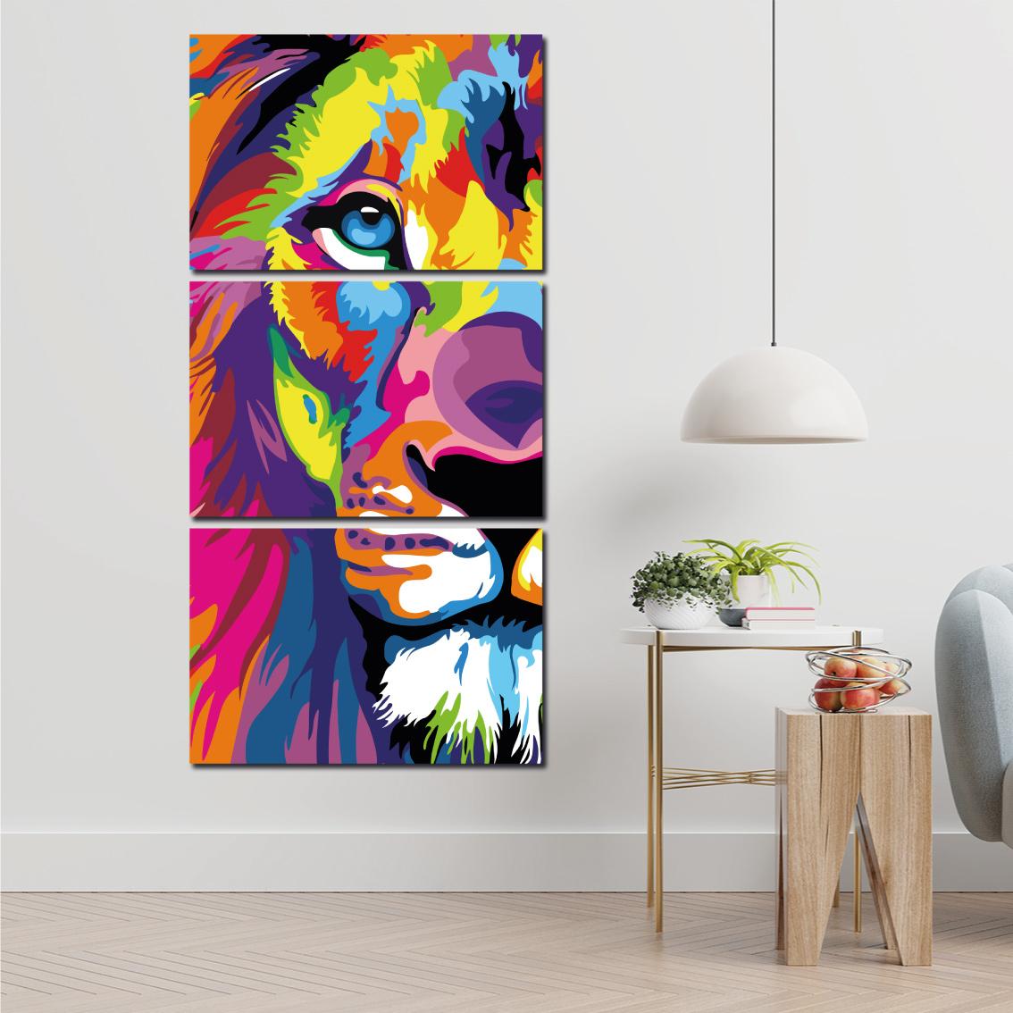 Leão de Judá Moderno e Colorido - Mosaico Vertical