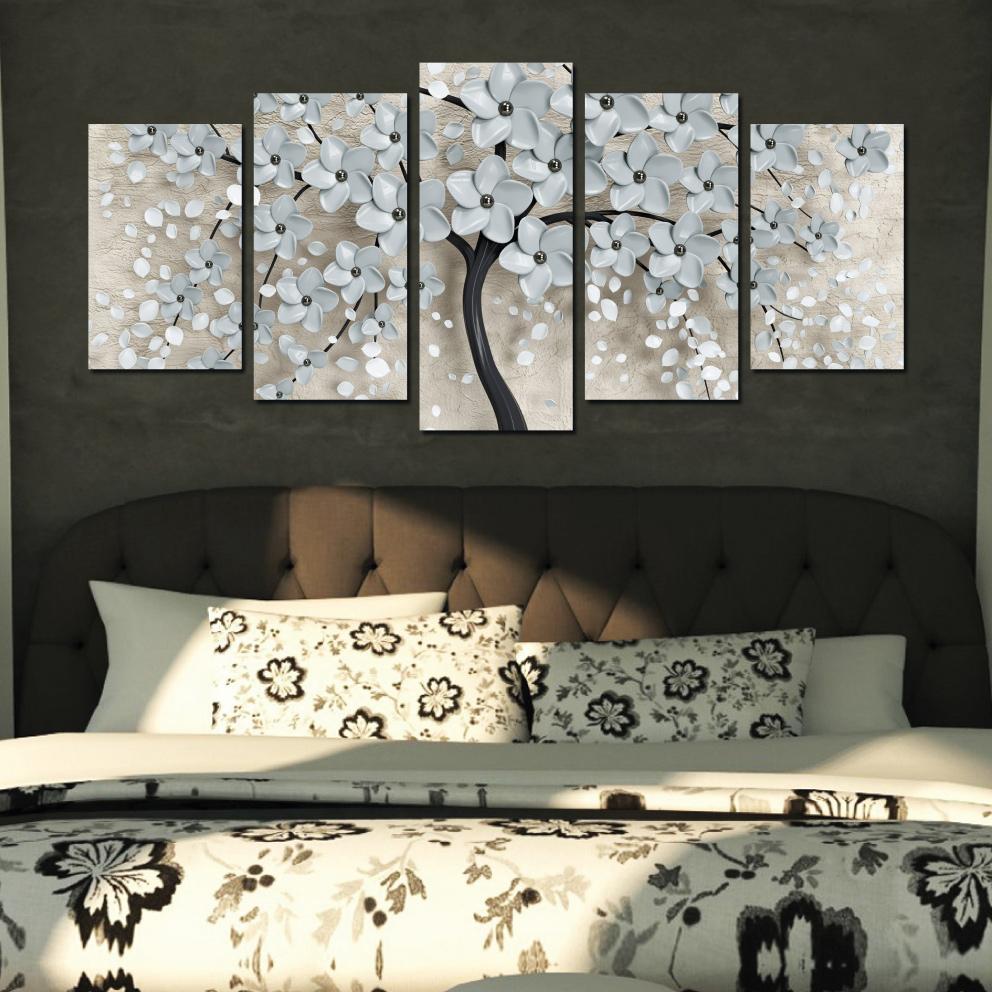 Flor de Cerejeira Branca - Mosaico 5 Peças