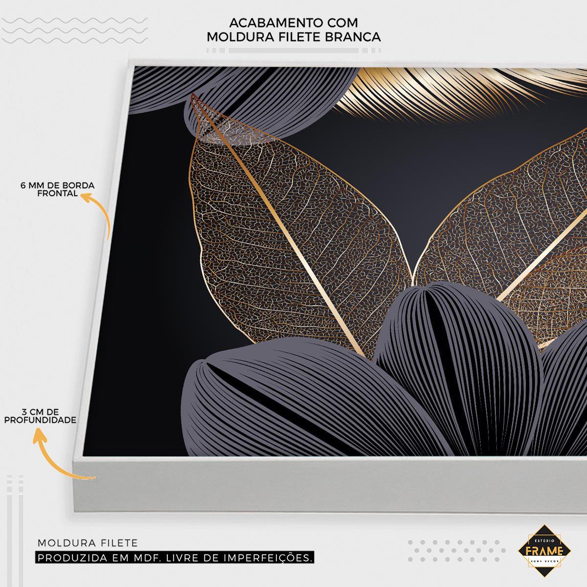 MOSAICO FLORAL GOLD DARK