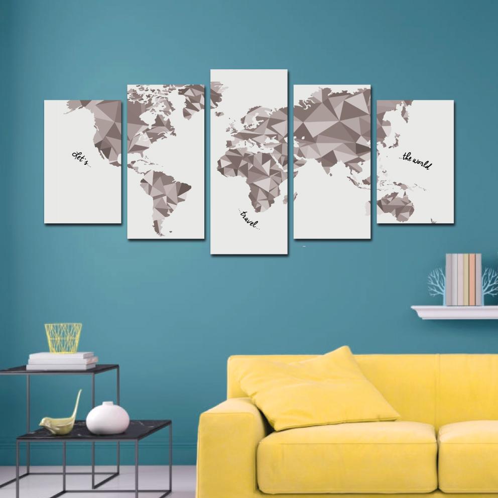 Mundi Let`s Travel - Mosaico 5 peças