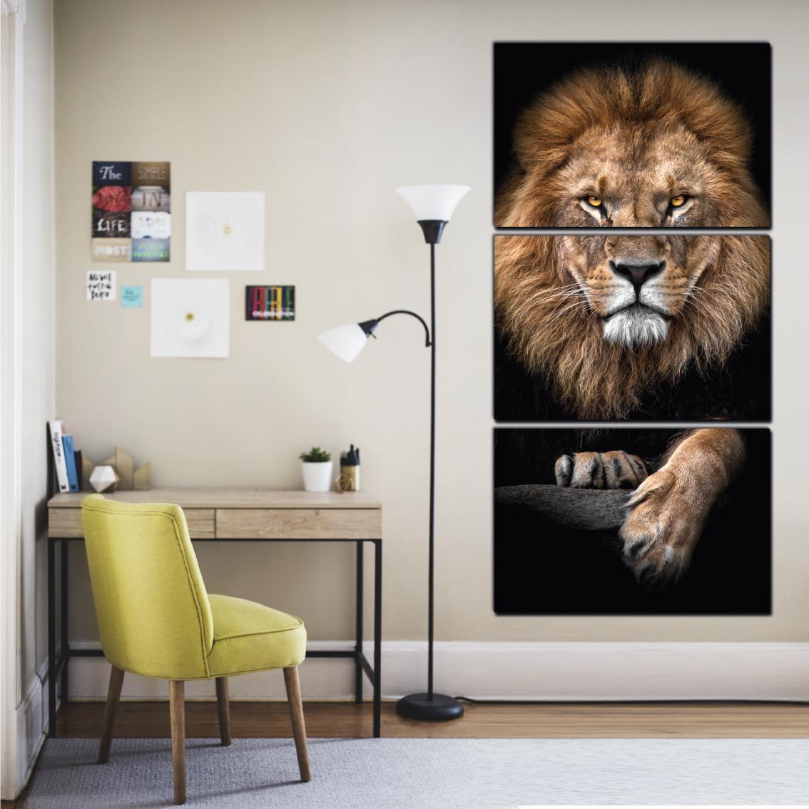 O Leão Majestoso - Mosaico Vertical