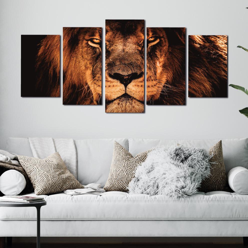 O Rei das Selvas - Mosaico 5 peças