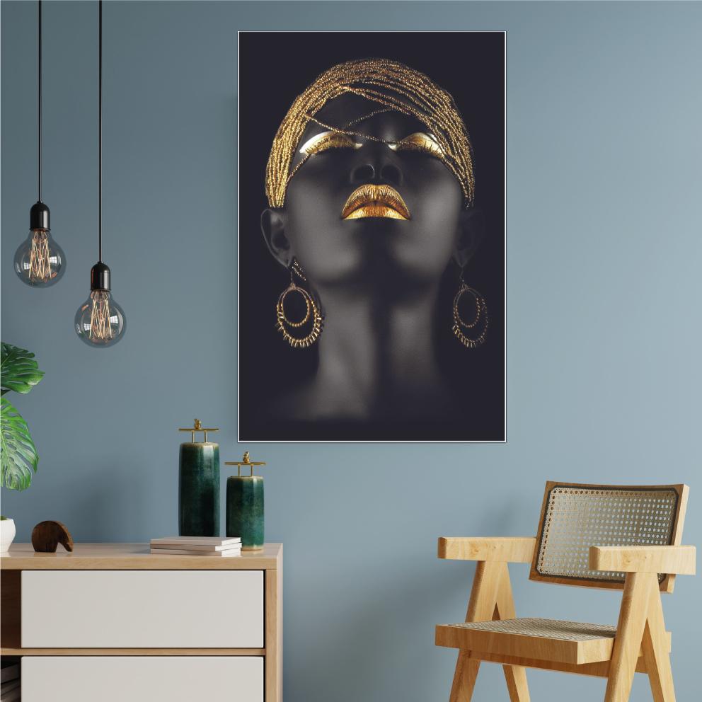 Quadro Black Gold - Woman Fashion