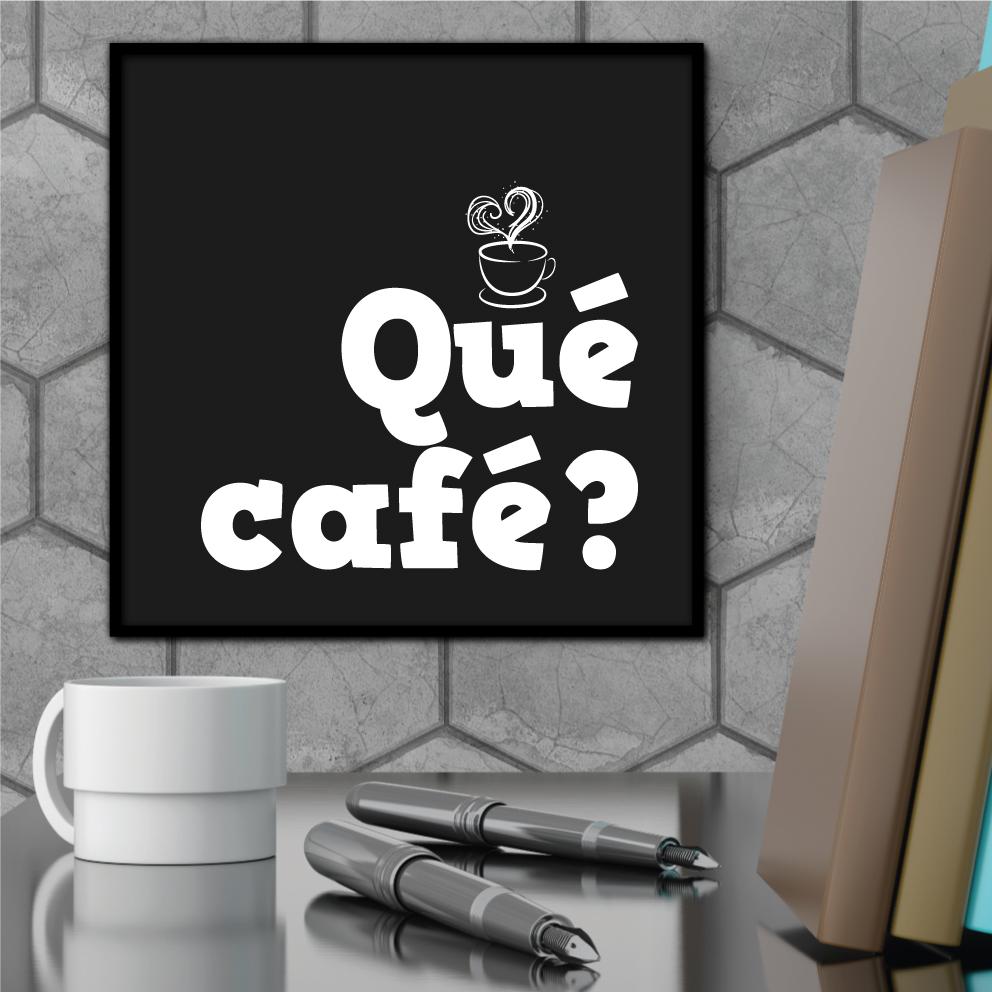Quadro Decorativo Qué Café