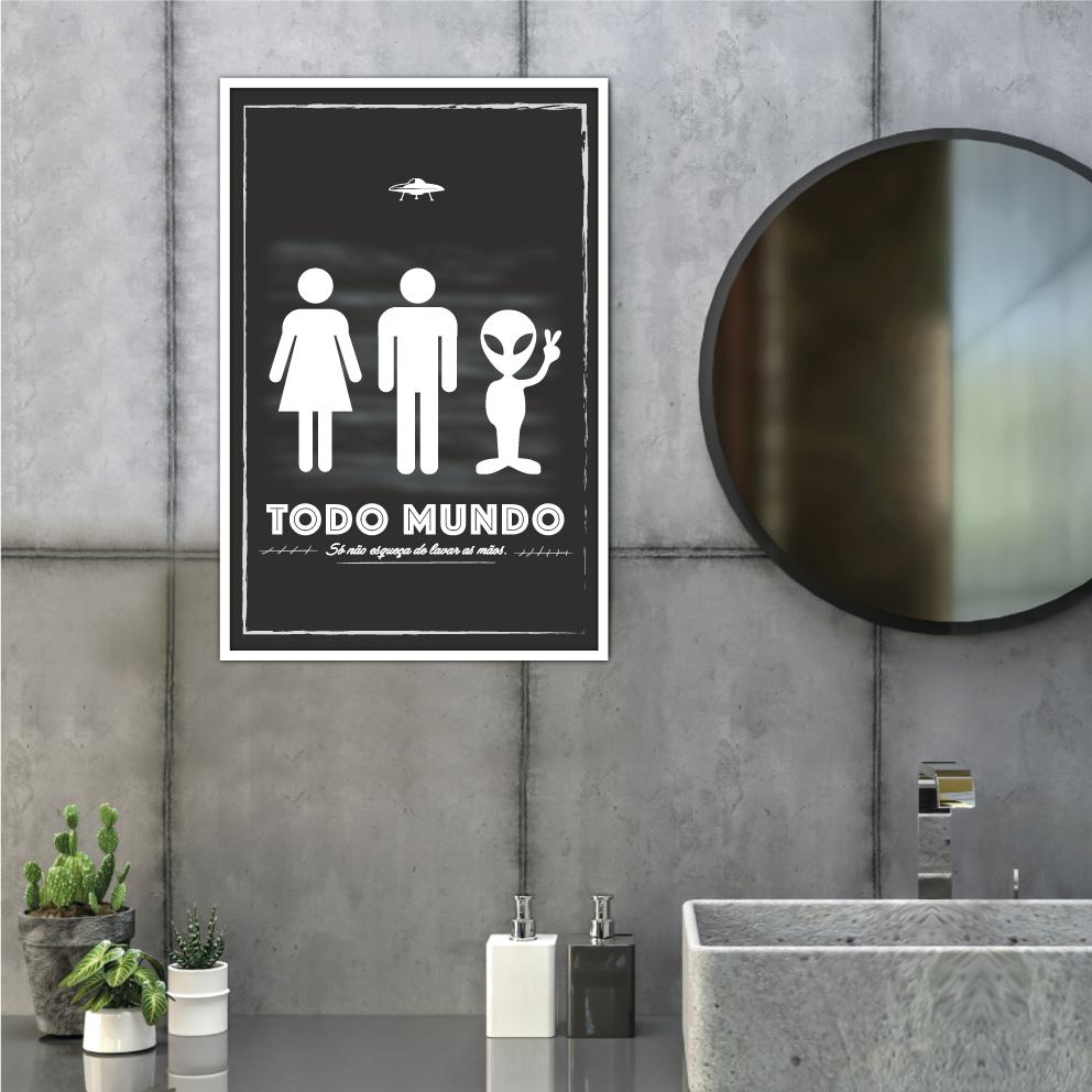 Quadro Decorativo WC Todo Mundo