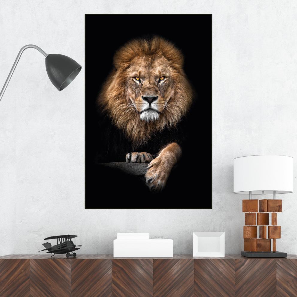 Quadro Leão Majestoso