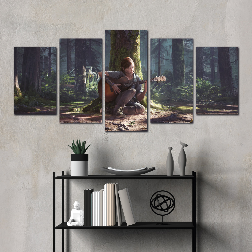 Quadro The Last of Us II - Mosaico 5 peças