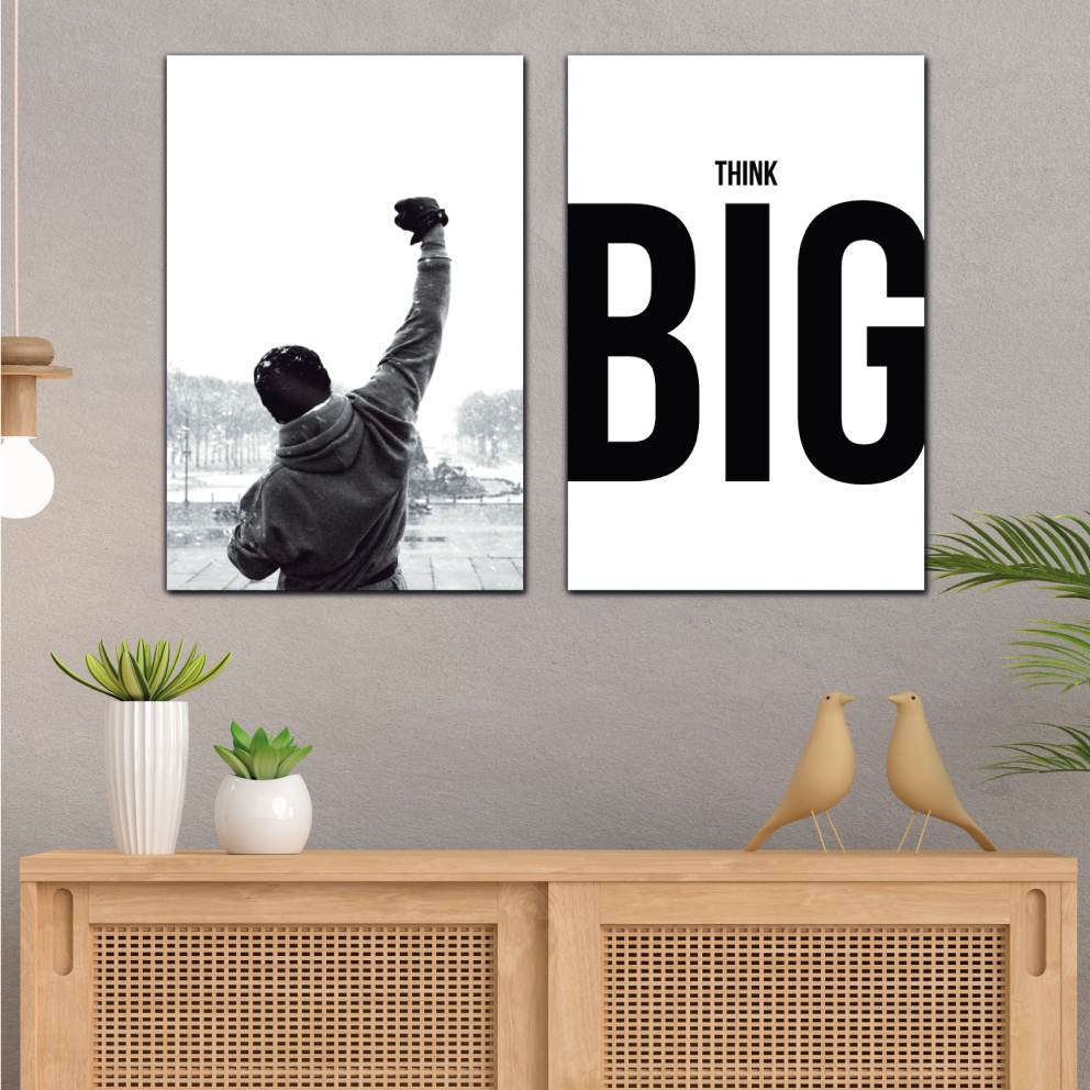 Quadros Think Big - Rocky Balboa