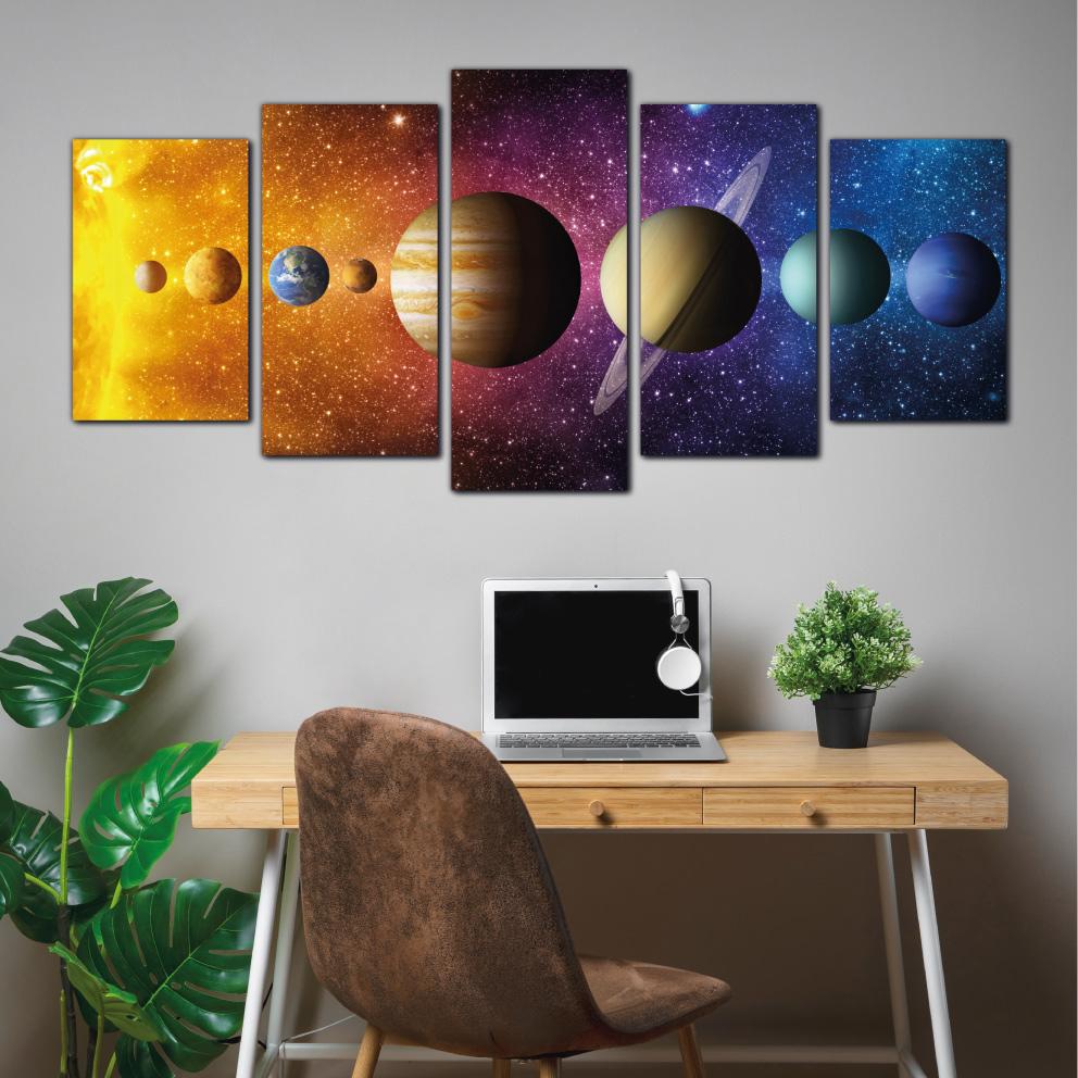 Sistema Solar, Planetas - Mosaico 5 peças