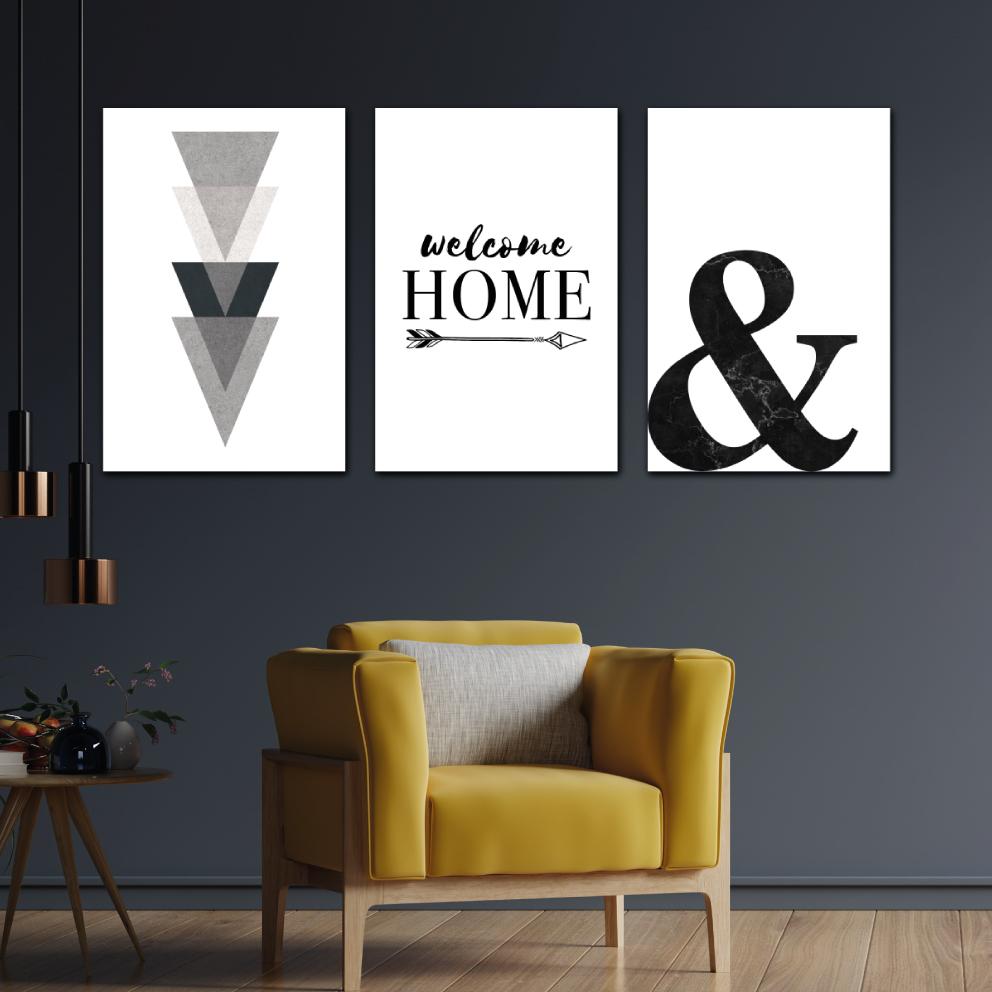 Trio Welcome Home Abstrato