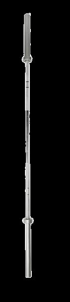 BARRA 2,00M OLIMPICA - 15KG - 4 ROLAMENTOS